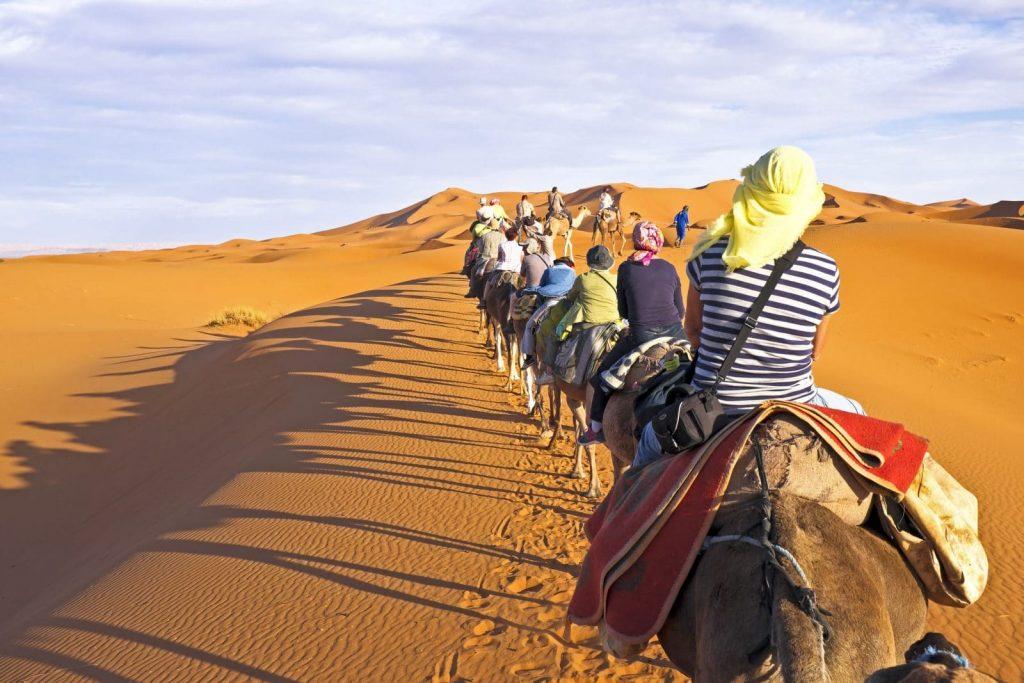Maroko wydmy Erg Chebbi, Merozuga