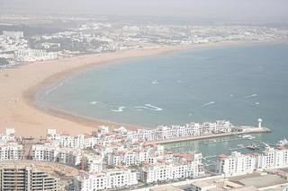 Plaża w Agadirze w Maroku