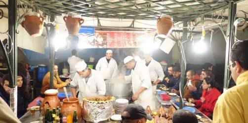 Gdzie zjeść na placu Jemaa el-Fna w Marrakeszu