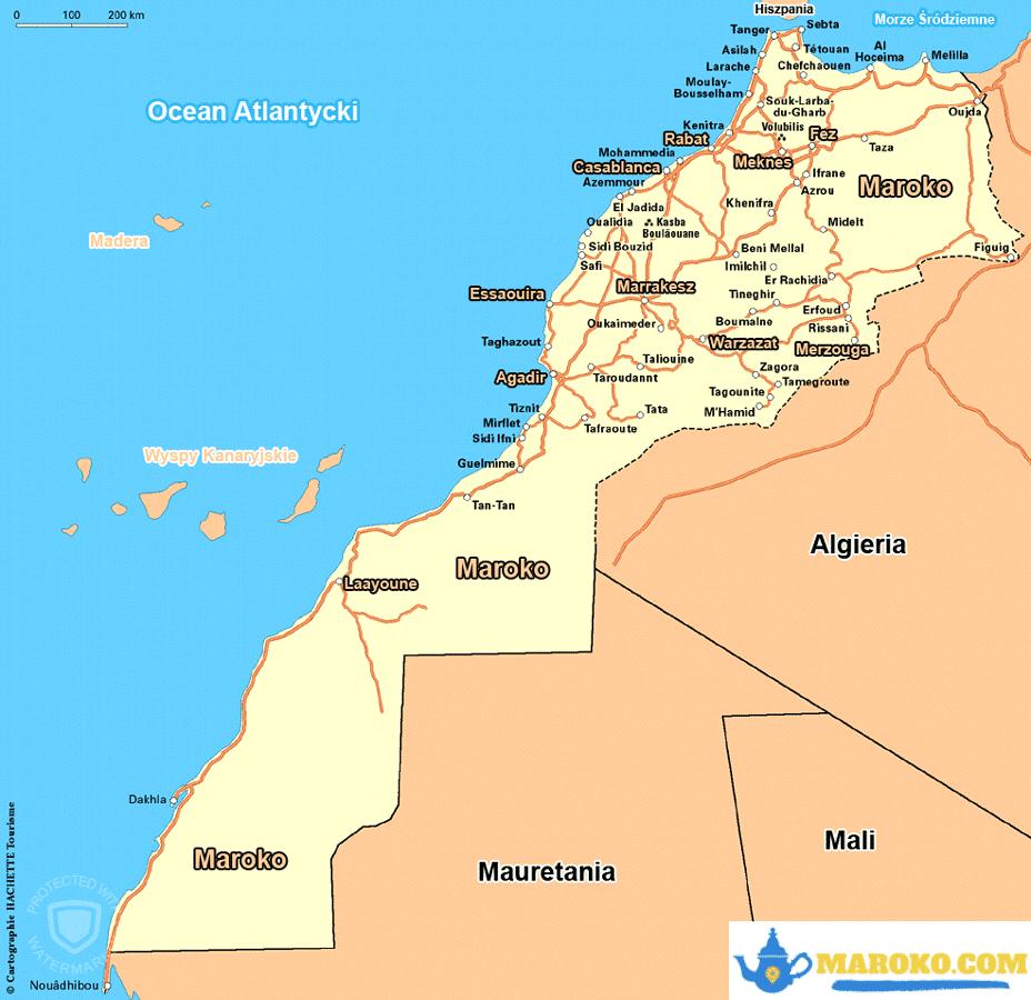 Mapa Maroka po polsku