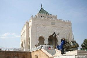 Mauzoleum Mohameda V w Rabacie. Maroko