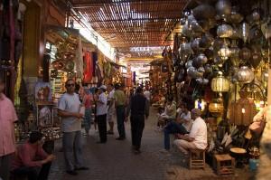 Souki w Marrakeszu w Maroku