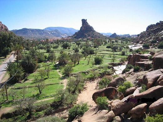 Wioska Tafraoute, Maroko