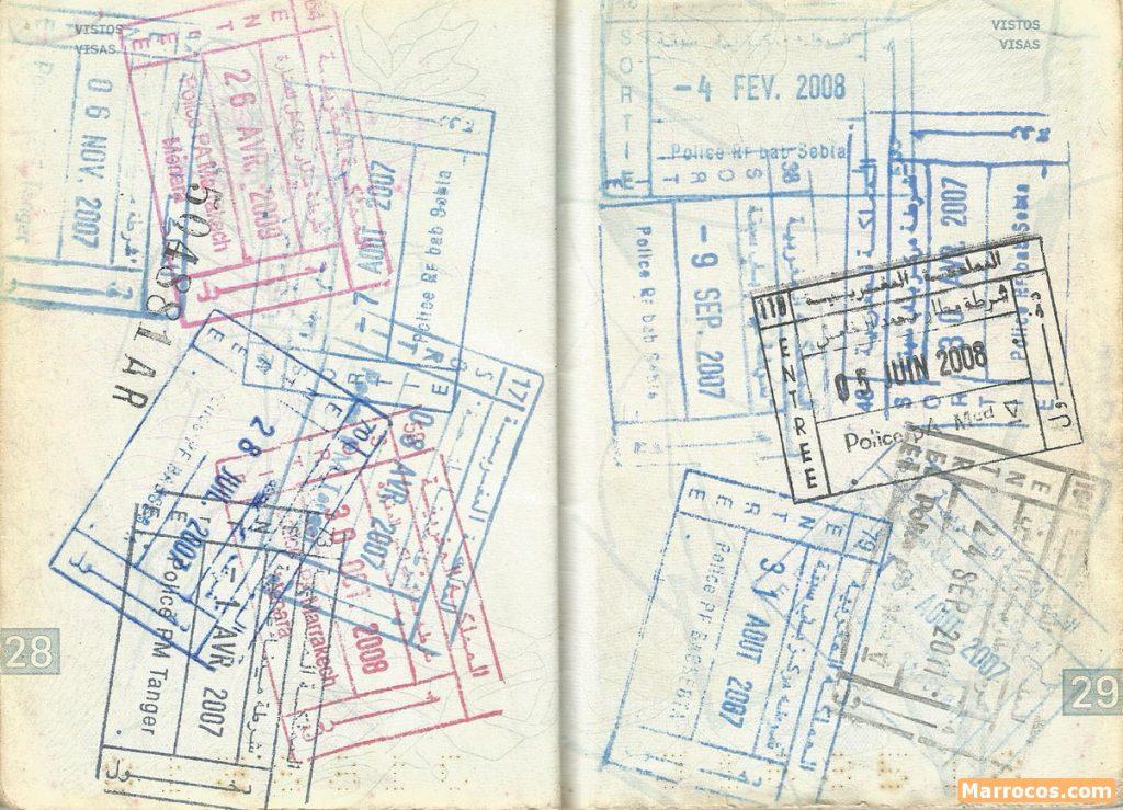 Paszport w Maroku