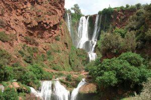 Wodosapdy Ouzoud w Maroku