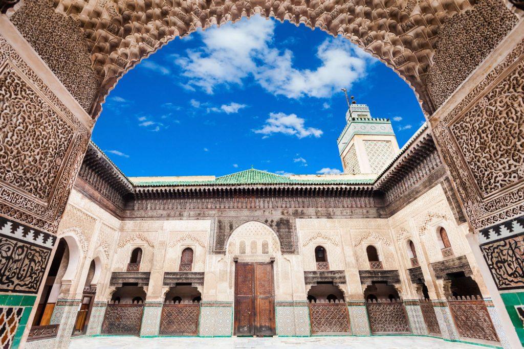 Fez Maroko Madrsa Bou Inania