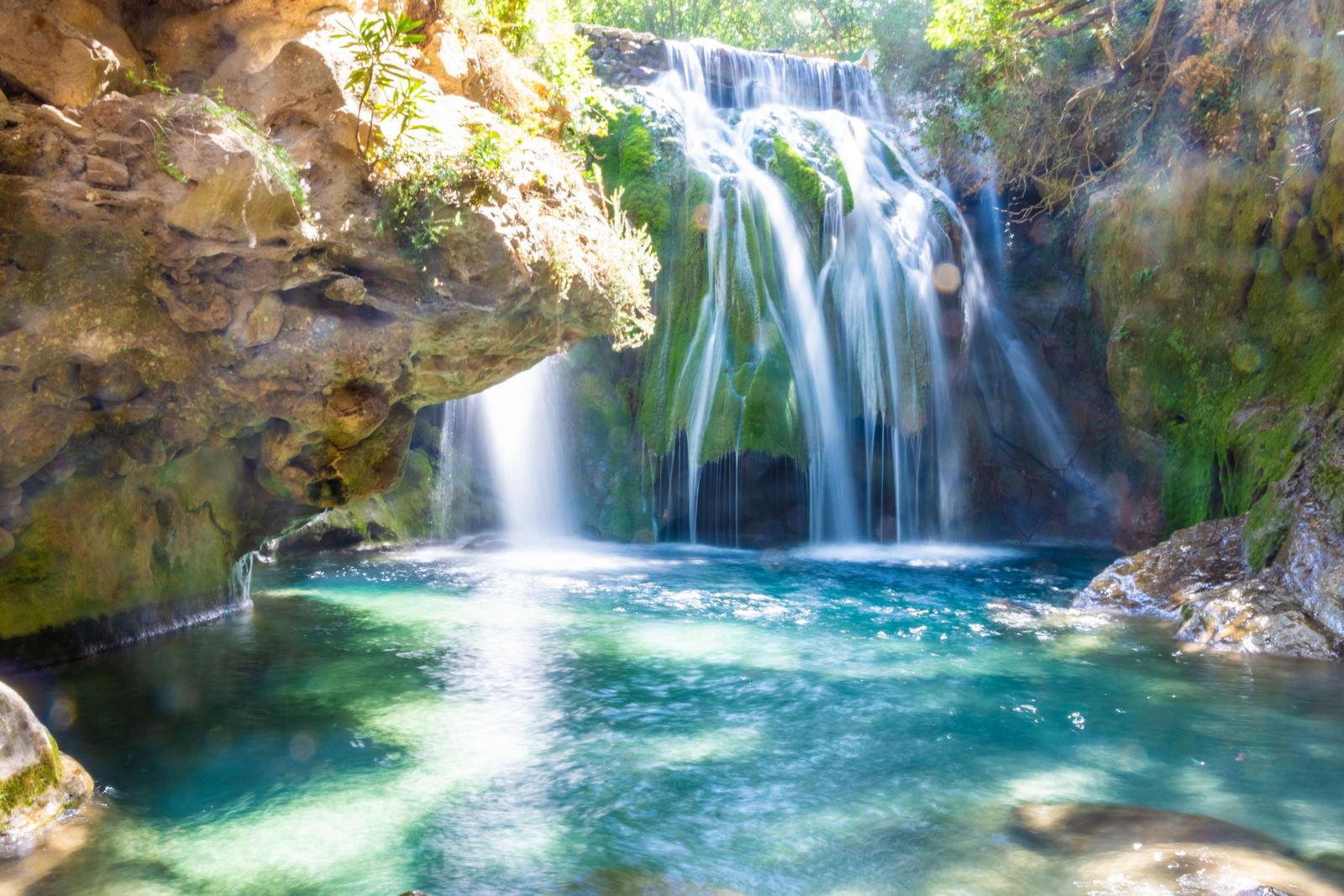 wodospady Akchour, Park Narodowy Talassemtane, Maroko