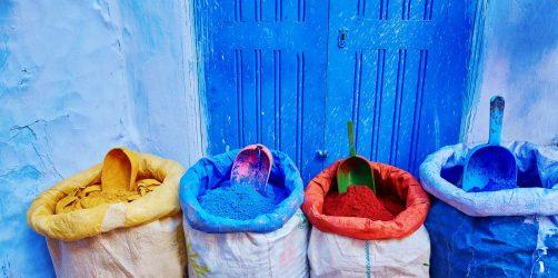 Chefchaouen zakupy barwniki