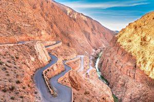 Dolina Dades Maroko droga Tisdrin w Wąwozie Dades