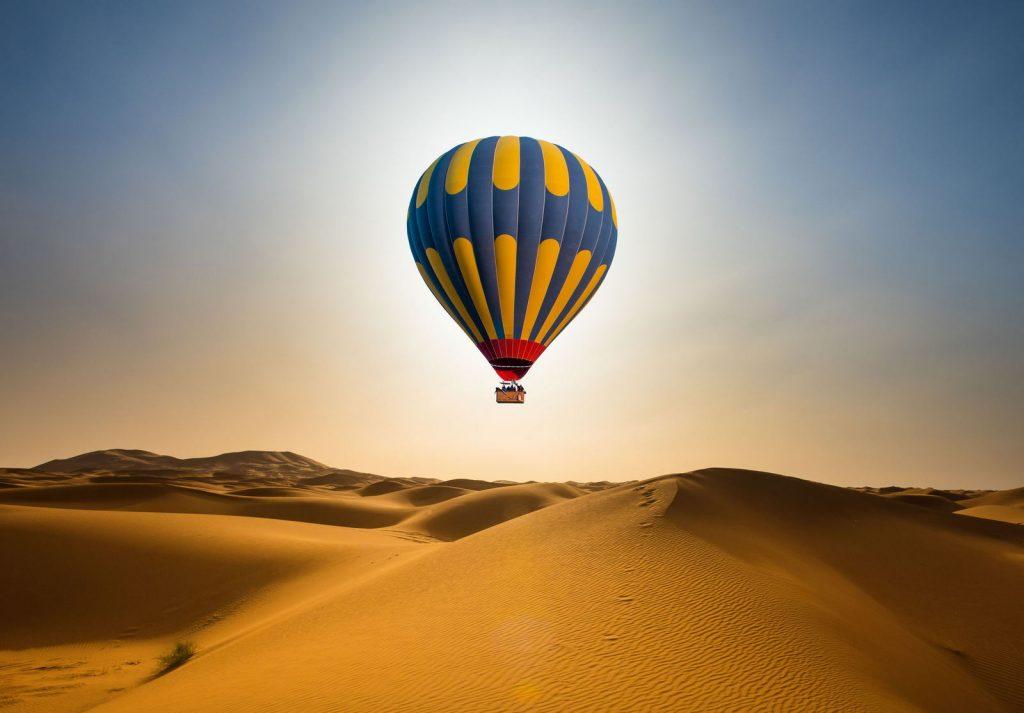 Lot balonem w Maroku