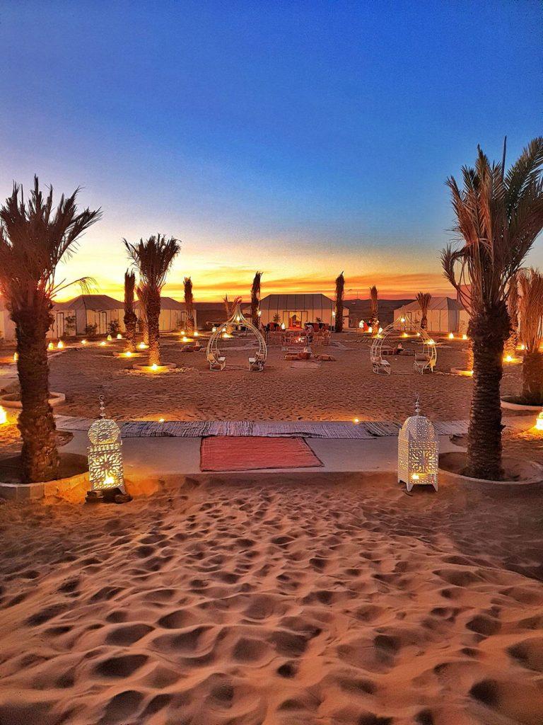 Maroko Noc na pustyni